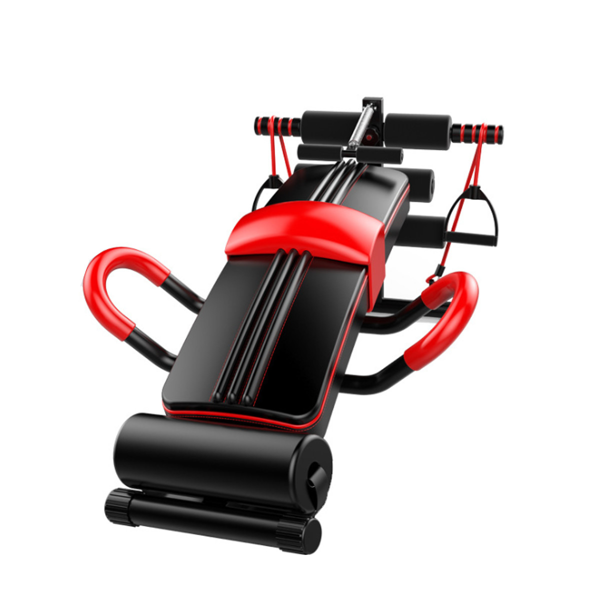 Adjustable Indoor Portable Sit-up Bench Training Abdominal Muscles Fitness Dumbbell Gym Home Equipment