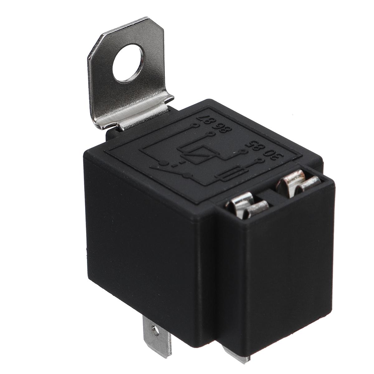 6PCS 4 Pin 12V 30AMP Relay Switch Harness Set 4Pin Insurance Fuse Holder