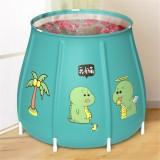Portable Bathtub Folding Bath Bucket Foldable Large Adult Tub Baby Swimming Pool Insulation Separate Family Bathroom SPA Tub With Lid