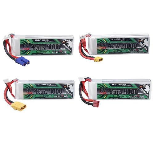 CODDAR 15.2V 4000mAh 4S 80C XT60/XT90/EC5/T-Deans Plug Optional High Discharge HV Lipo Battery for 1/10 RC Car