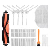 12pcs Replacements for Xiaomi Mijia G1 Vacuum Cleaner Parts Accessories Main Brush*1 Side Brushes*4 HEPA Filters*2 Mop Clothes*3 Cleaning Tool*1 Yellow Cleaning Tool*1