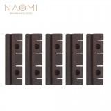 NAOMI 5pcs/ 1set Rosewood Uke Bridge Ukulele Parts Accessories Slotted Soprano Ukulele Bridge Dimensions