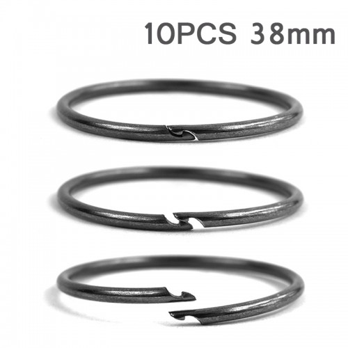 10PCS 38mm Diameter Outdoor EDC Key Ring Buckle Metal Round Chain Quick Release Clamp Ring