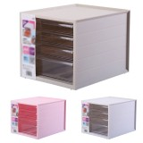 4 Layers Plastic Storage Drawer Multi Layers Desktop Document Stationery Box File Folder For School Office Supplies