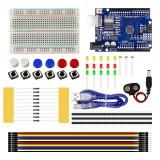 Starter Kit UNO R3 Breadboard Jumper for Arduino Micro controller ATMEGA328P