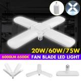Industrial Lamp Super Bright Industrial Lighting 75W E27 Led Fan Garage Light 6000LM 110-265V 2835 Led for High Bay workshop