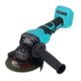 800W Cordless Brushless Angle Grinder 125mm With 4X Grinding Disc For Makita Battery