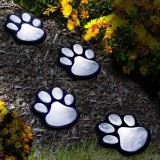 LED Cat Claw Print Solar Lawn Lights Dog Cat Puppy Animal Garden Lights Lamp for Pathway Lawn Yard Outdoor Decorations