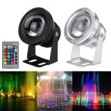 10W LED RGB Underwater Submersible Light Aquarium Fountain Pond Pool Lamp+Remote Control 85-265V