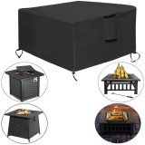 30~50″ Oxford Cloth Fire Pit Cover Patio Square Table Cover Grill BBQ Gas Waterproof Anti Crack UV Protector