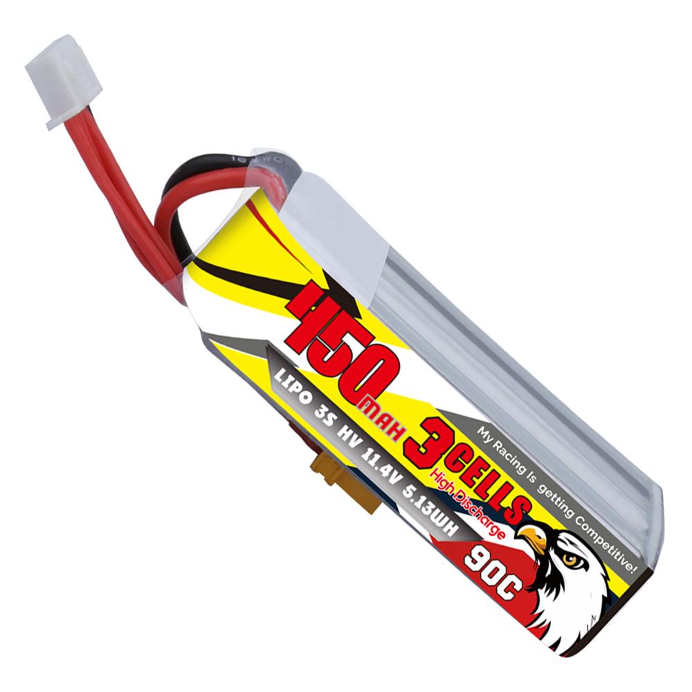 CODDAR 11.4V 450mAh 3S 90C Lipo Battery XT30 Plug for Beta85X Beta95X Toothpick Whoop
