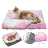 Dog Cat Long Plush Puppy Cushion Mat Soft Pet Bed Winter Warm Sleeping Bed for Dogs Kennel Portable Cat Supplies