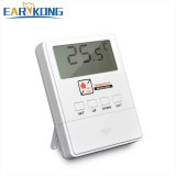 EARYKONG Temperature Detector 433MHz Wireless With LCD Screen 1527 Chips Real-time Display For Home Burglar Alarm System