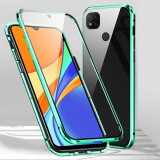 Bakeey for Xiaomi Redmi 9C Case 360 Magnetic Flip Touch Screen Double-Sided 9H Tempered Glass + Metal Full Body Protective Case