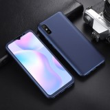 Bakeey for Xiaomi Redmi 9A Case 3 in 1 Plating 360 Full Cover Frosted Ultra-Thin PC Protective Case with Tempered Glass