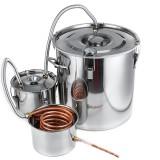 Kingsunshinemetal BWD 10/18/30L DIY Brewing Equipment Distiller Boiler with Thermometer