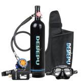 DEDEPU Mini Scuba Diving Tank Set 1L Diving Tank With Snorkelling Glasses+Converter+Bag Underwater Mini Scuba Tank Accessories