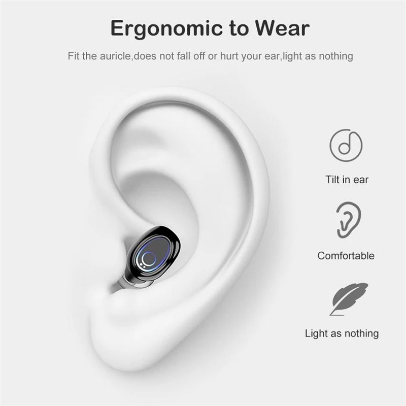 Bakeey Y8 TWS Earphone True Wireless bluetooth 5.0 Earbuds LED Display Touch Control Stereo Sport Waterproof Headset