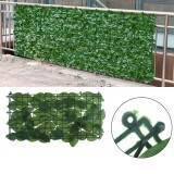 25x50cm Artificial Ivy Leaf Fence Green Garden Yard Privacy Screen Hedge Plants for Outdoor Home Decor