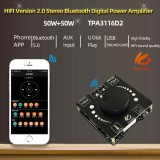 3Pcs XY-AP50H 50W+50W HIFI bluetooth 5.0 Wireless Audio TPA3116D2 Digital Power Amplifier Stereo board 50Wx2 Amp Amplificador USB AUX 3.5MM AP