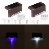 4PCS Solar LED Deck Lights Outdoor Waterproof Garden Pathway Light Stairs Step Fence Lamp