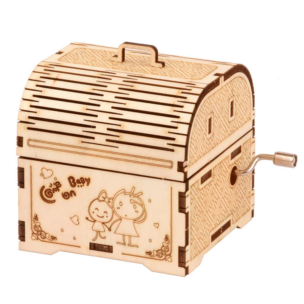 Yiyi BYH701-04 DIY Music Box Wooden Handmade Assembling Puzzles Music Box For Children Home Decor