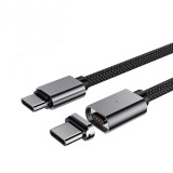 Suntaiho 100W 5A Magnetic USB-C to USB-C PD Cable Suction Data Cable Fast Charging Magnetic Line For iPad Pro 2020 MacBook MI10 Note 9S Huawei P40 Pro Oneplus 8Pro