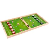 3 In 1 Football Chess Set Wooden Exquisite Storage Box Football Chess Flight Chess Gobang Set For Parent-Child Table Desktop Games Toys