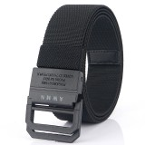 AWMN 125×3.8cm Double Ring Buckle Tactical Belt Quick Release Polyester Leisure Belt