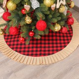 120cm Christmas Tree Skirt Aprons New Year Xmas Tree Carpet Foot Cover Red Round Carpet for Merry Christmas Decoration