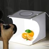 PULUZ 23cm Ring LED Panel Folding Portable Light Photo Lighting Studio Shooting Tent Box Kit with 6 Colors Backdrops
