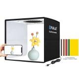 PULUZ 25cm Folding Portable Ring Light Photo Lighting Studio Shooting Tent Box with 12 Colors Backdrops