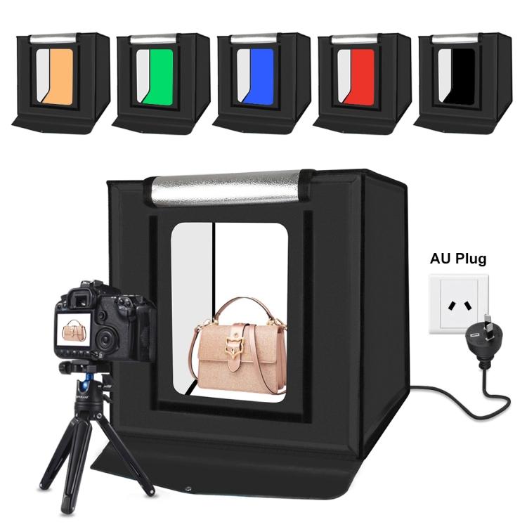 PULUZ 40cm Folding Portable 24W 5500K White Light Dimmable Photo Lighting Studio Shooting Tent Box Kit with 6 Colors Backdrops (AU Plug)