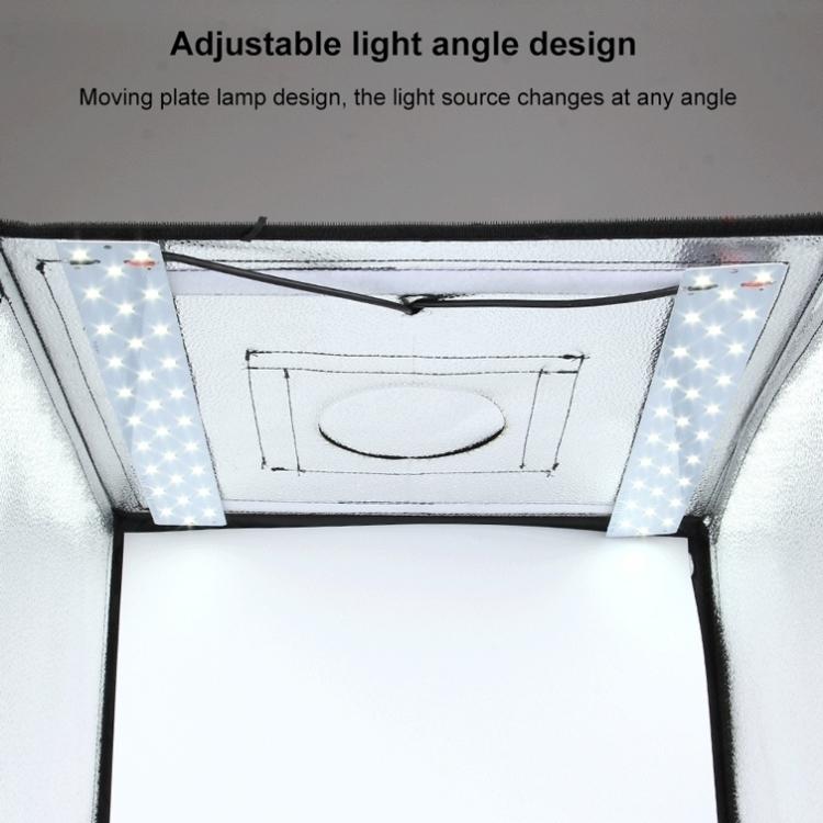 PULUZ Photo Studio Light Box Portable 60 x 60 x 60 cm Light Tent LED 5500K White Light Dimmable Mini 36W Photography Studio Tent Kit with 6 Removable Backdrop (EU Plug)