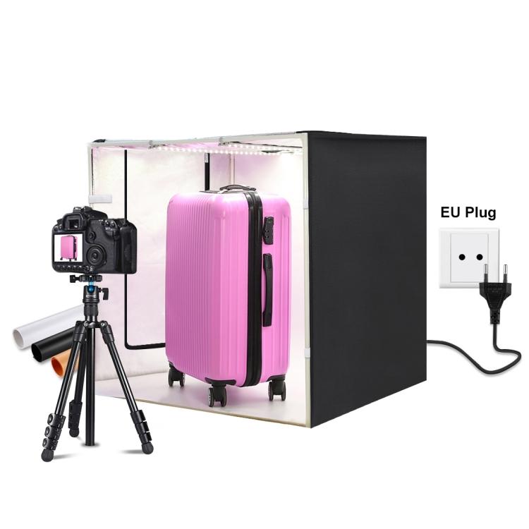 PULUZ 80cm Folding Portable 80W 8500LM White Light Photo Lighting Studio Shooting Tent Box Kit with 3 Colors Backdrops (EU Plug)