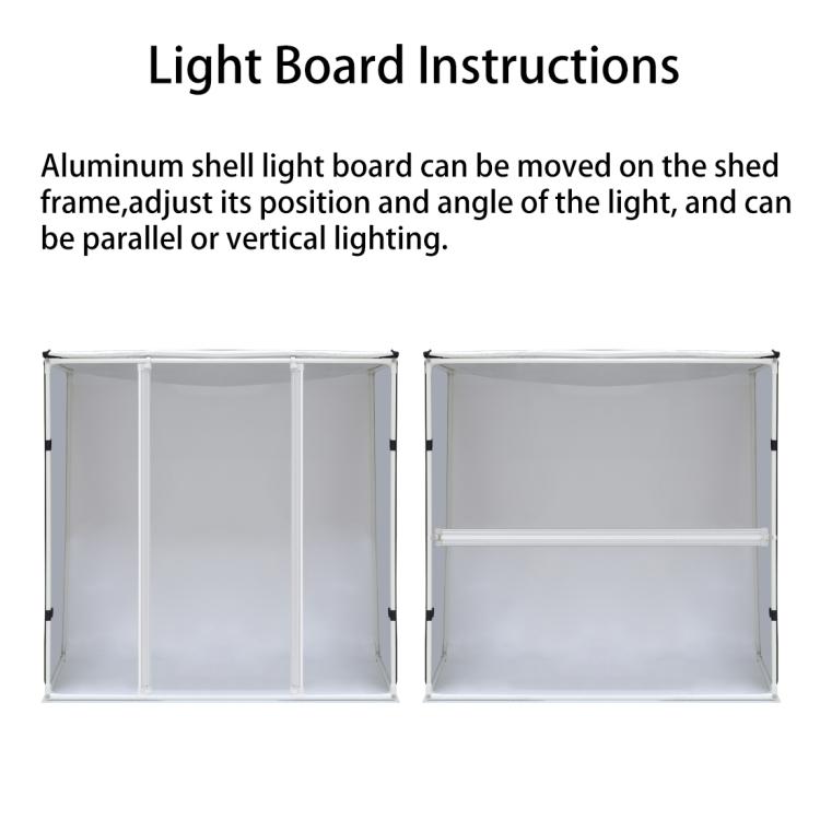 PULUZ 80cm Folding Portable 80W 8500LM White Light Photo Lighting Studio Shooting Tent Box Kit with 3 Colors Backdrops (UK Plug)