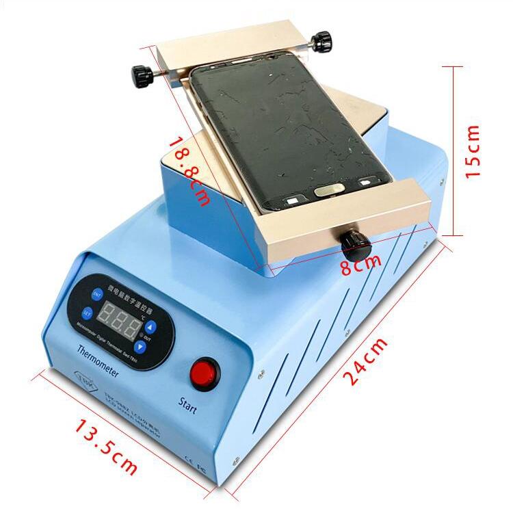 TBK-988N 7 inch Built-in Dual Pump Vacuum Separator Machine Touch Screen Dismantle Repair Tools LCD Screen Separator Machine
