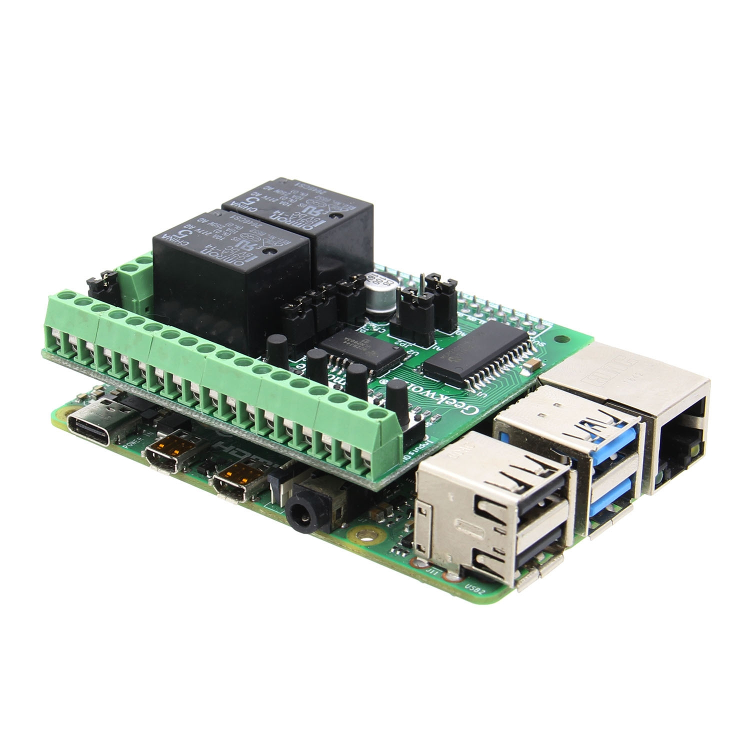 Expanding Plate Digital Input/Output DIDO HAT PiFace2 Digital Adapter Board for Raspberry Pi 4 / 3B+
