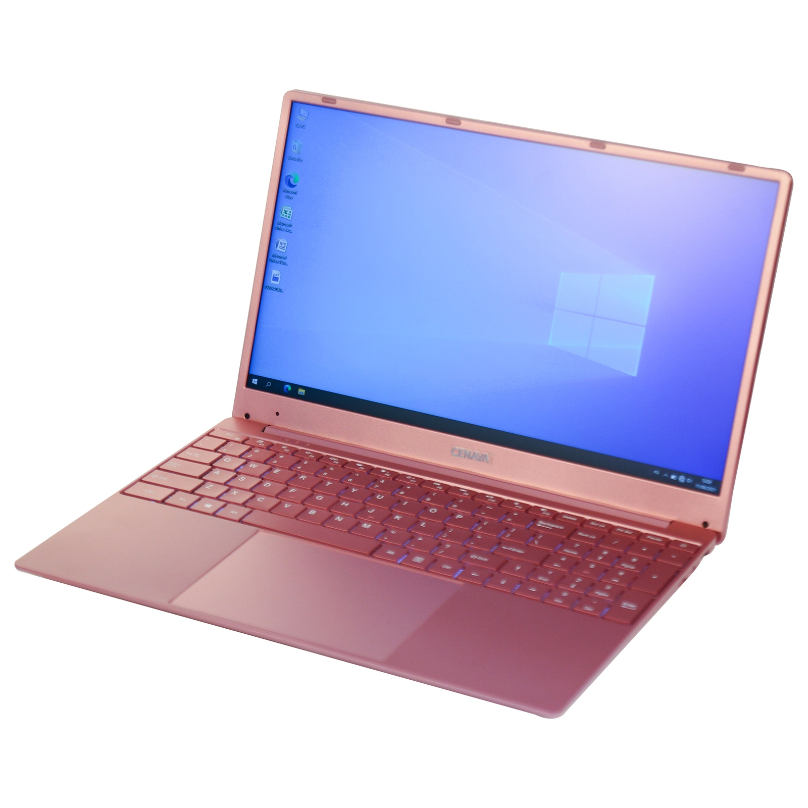 CENAVA F151 Ultrabook, 15.6 inch, 12GB+256GB, Windows 10 Intel Celeron J4105 Quad Core Up to 2.5GHz, Support TF Card & Bluetooth & Dual WiFi & Mini HDMI, US/EU Plug(Rose Gold)