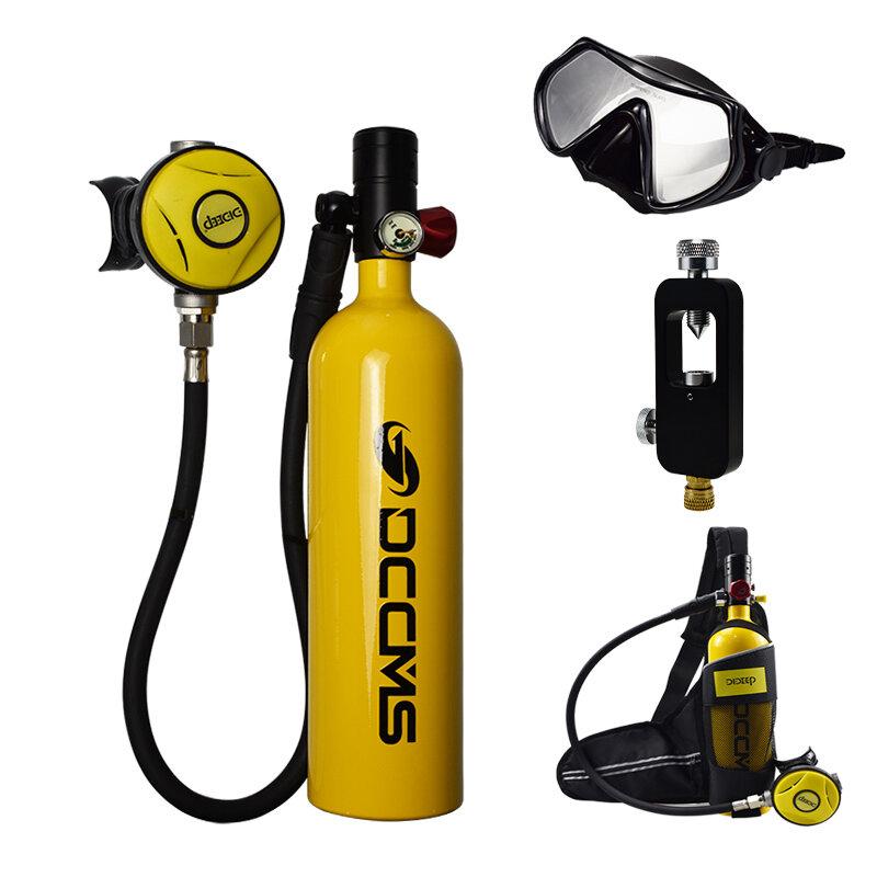 DCCMS DS-610 6pcs/set 1L Portable Diving Oxygen Tank Divers Spare Oxygen Equipment Leisure Diving Mini Scuba Tank