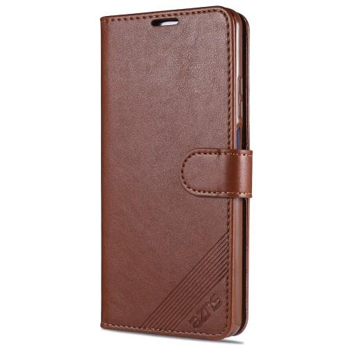 For Xiaomi Mi 10T Lite 5G / Redmi Note 9 Pro 5G AZNS Sheepskin Texture Horizontal Flip Leather Case with Holder & Card Slots & Wallet (Brown)
