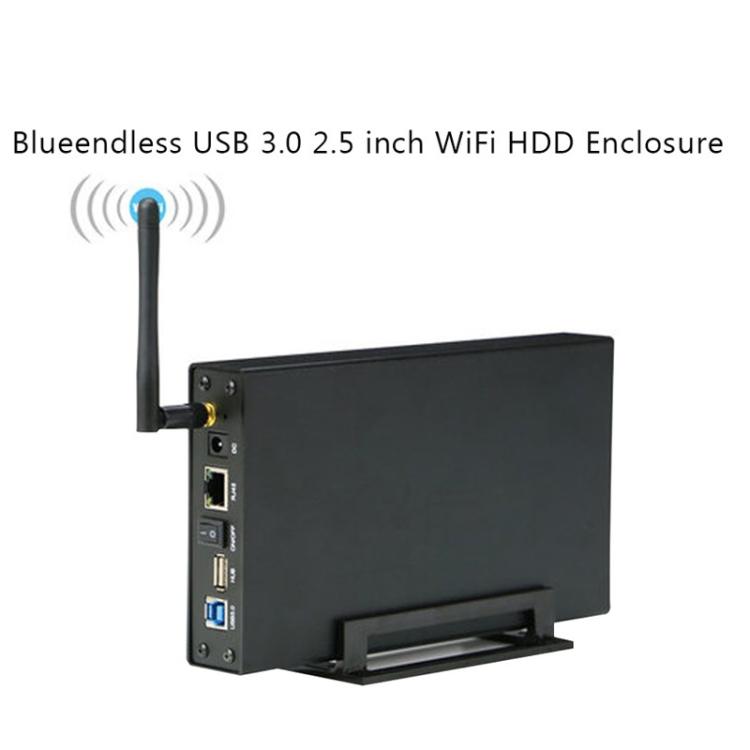 Blueendless 3.5 inch Mobile Hard Disk Box WIFI Wireless NAS Private Cloud Storage (US Plug)