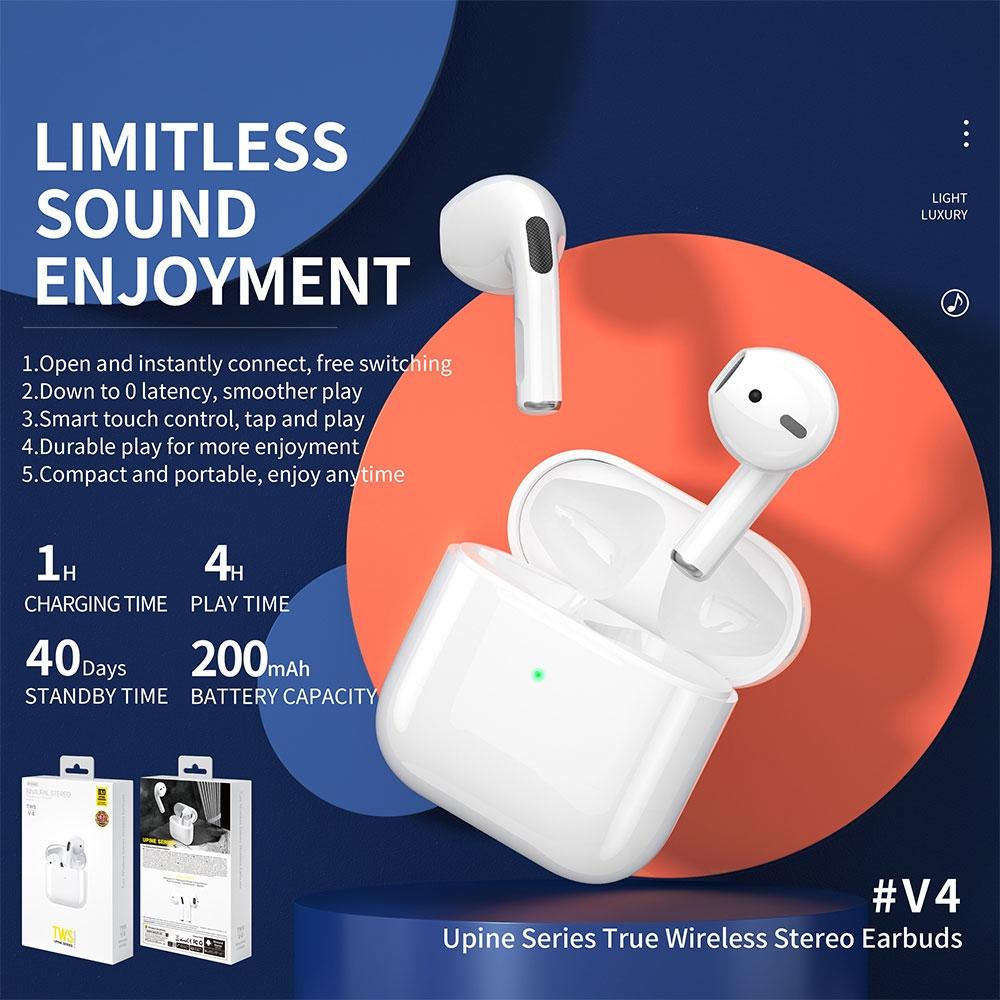 WK TWS V4 True Wireless Earbuds Stereo Headphones Bluetooth 5.1 Earphones