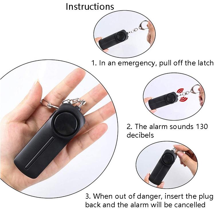 AF-9400 130dB Personal Alarm Pull Ring Women Anti-Wolf Alarm Self-Defense Keychain