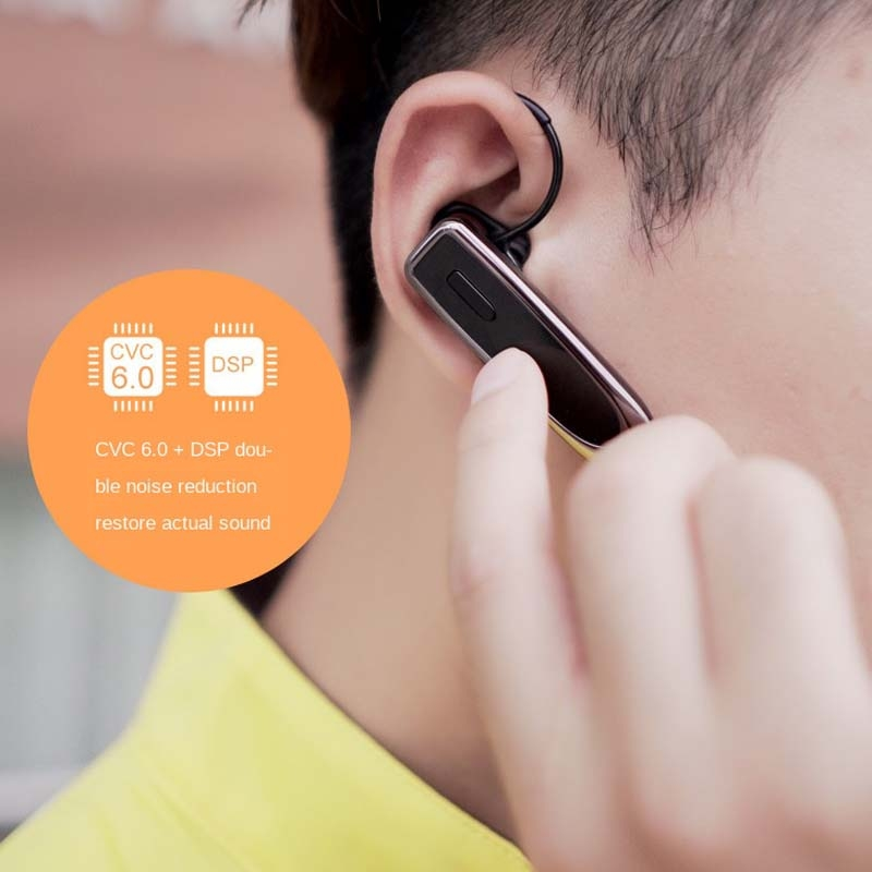 K23 Bluetooth 5.0 Business Wireless Bluetooth Headset, Style:Caller Name+Charging Box (Black)